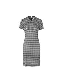 Mads Nørgaard Seersucker Stretch Designa kjole i sort/hvid