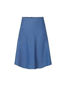 Mads Nørgaard Stelly denim nederdel i Mid Blue