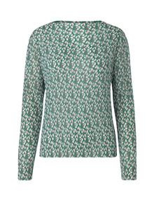 Mads Nørgaard Blizella bluse i grøn m. blomster