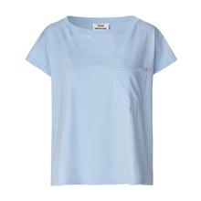 Mads Nørgaard Jersey Dip Torva T-shirt i blå