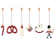 Maileg Ornaments in box pynt til træet i rød og hvid