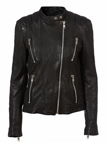 MDK/Munderingskompaniet New Thin Summer Biker jakke i sort