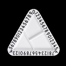 Design letters AJ melamin triangular snack plate