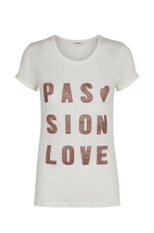 Mos Mosh Crave Glam t-shirt i Off white