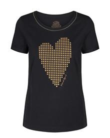 Mos Mosh Nikki T-shirt i sort