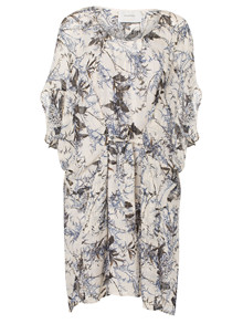 Munthe Trixie kjole i hvid m. print