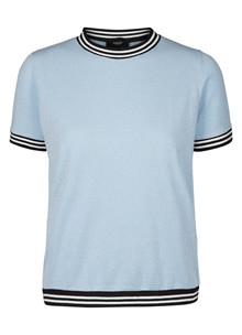 Neo Noir Nova strik T-shirt i lys blå