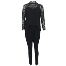 Neo Noir Tonic Lace jumpsuit i sort