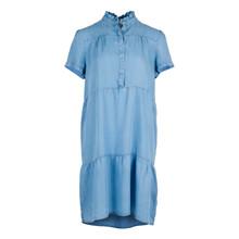 Neo Noir Gilda Chambray kjole i blå
