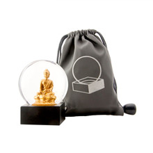Niji Snow Globe Mini Buddha to go i Guld