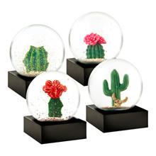 Niji Snow Globe Mini Cactus i Hvid