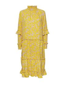 NORR Anastacia kjole i gul