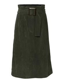 NORR Penelope fløjl nederdel i grøn