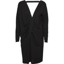NORR Tatiana Drape kjole i sort
