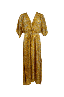Black Colour Luna Long kjole i gul