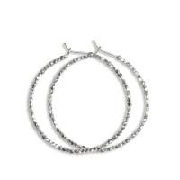 Jane Kønig stor Creol øreringe med perler i sterling sølv
