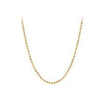 Pernille Corydon large Facet Plain halskæde i guld