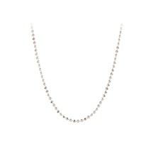 Pernille Corydon large Facet Plain halskæde i sølv