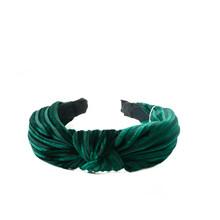 Rosenvinge velvet hårbøjle i grøn