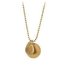 Pernille Corydon Coin & Drop halskæde i guld