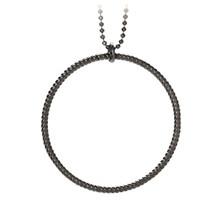 Pernille Corydon Big Twisted halskæde i oxideret sølv