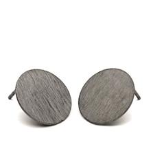 Pernille Corydon Mini Coin ørering i oxideret sølv
