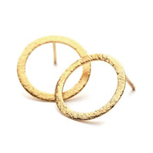 Pernille Corydon Open Coin ørering i guld