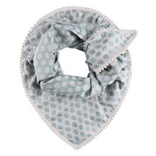 Pom Amsterdam sjal/tørklæde med grønne prikker