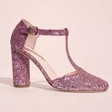 Stine Goya Marta stiletter i pink glitter