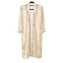 Karmamia Silver Gold kimono i guld m. sølv print