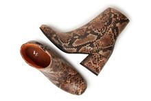 Via Vai Amelia Manila støvler i slangskind