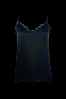 Black Color Minna Lace top i sort