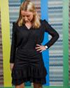 Neo Noir Lesley Chiffon bluse i sort
