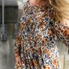 Lollys Laundry Gudrun kjole i brun