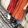Black Colour Adele fløjls kjole i brun