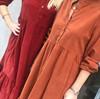 Black Colour Adele fløjls kjole i bordeaux