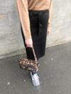 NORR Lenna skind nederdel i sort