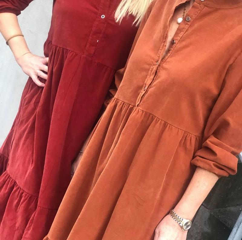 Fri fragt over 499, ♥ Adele kjole rust rød ♥ Black Colour