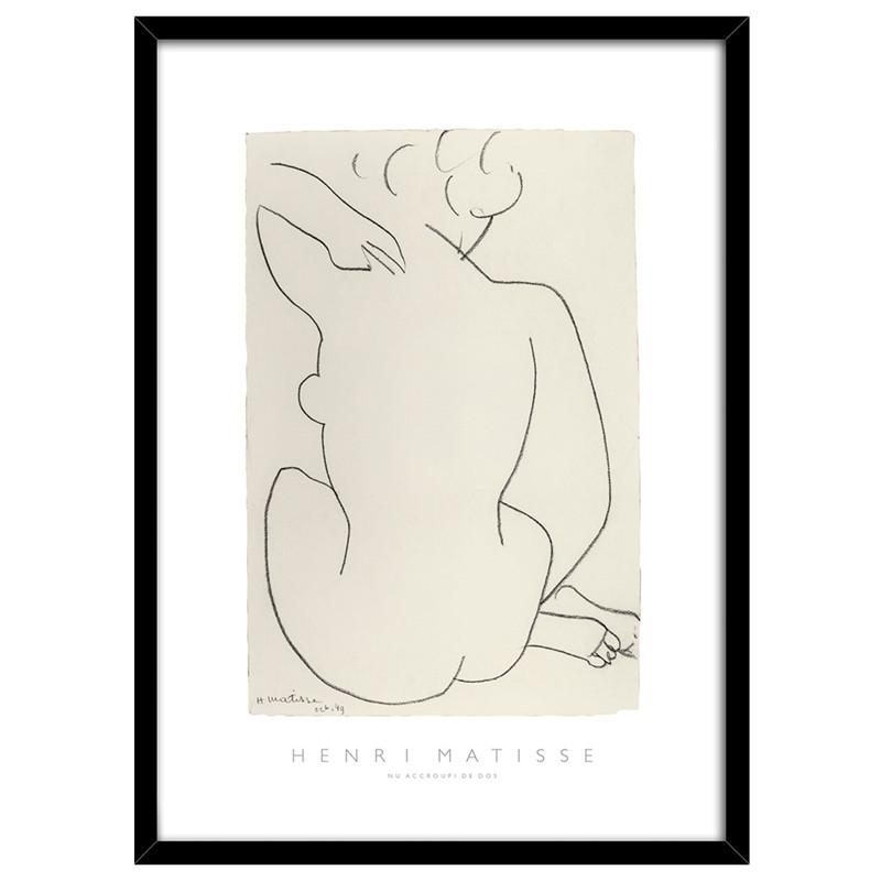 Usædvanlig Fri fragt over 499,- ♥ Nude plakat ♥ Henri Matisse HN77