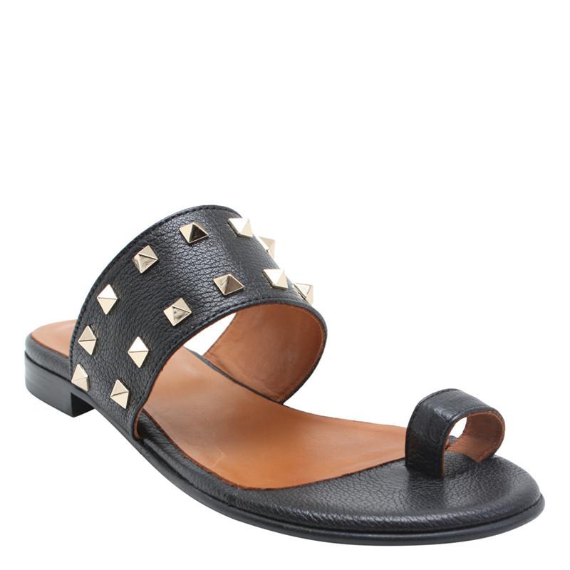 86553847888 Fri fragt over 499,-   Sort sandal med nitter   Billi Bi