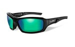 ECHO Polarized Emerald Mirror<br />Gloss Black Frame