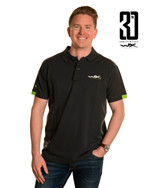 WX Premium Polo<br />Charcoal w Flash Green