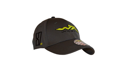 WX 87 Stretch Fit Cap<br />Charcoal w Flash Green