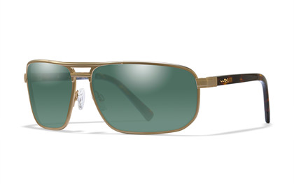 HAYDEN Polarized Green<br />Satin Gold Frame