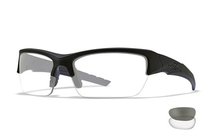 VALOR Smoke Grey/Clear<br />Matte Black Frame