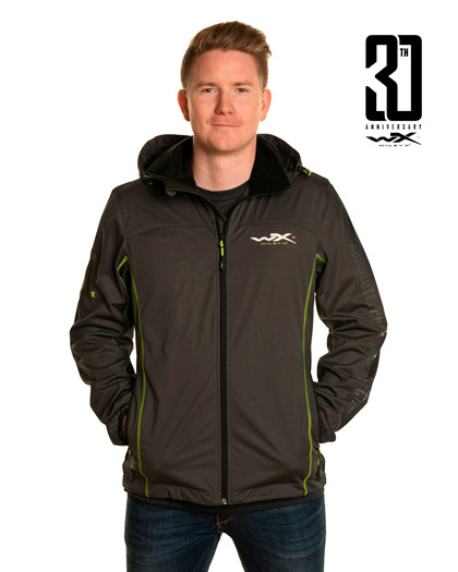 WX Premium Tech Jacket<br />Charcoal w Flash Green