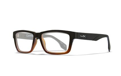 CONTOUR Clear Lens<br />Gloss Black Brown Stripe Frame