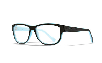 MARKER Clear Lens<br />Gloss Black w Sky Blue Frame