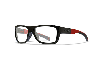 CRUSH Clear<br />Gloss Black/Red Frame