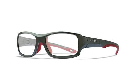 FIERCE Clear<br />Dark Silver/Red Frame